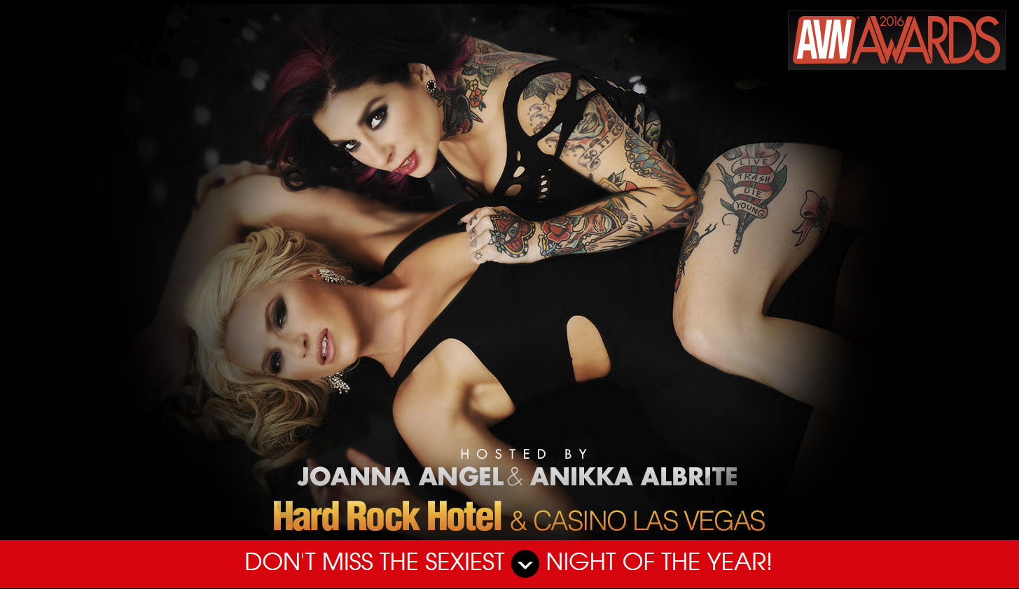 AVN Awards 2016 hosted by Joanna Angel & Anikka Albrite